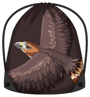 Sac à dos à cordon avec motif faucon