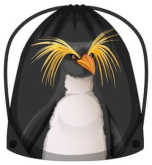 Sac à dos à cordon avec motif pingouin
