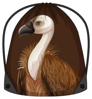 Sac à dos à cordon avec motif vautour