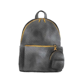 Sac à dos moderne watrcolor avec sac à main