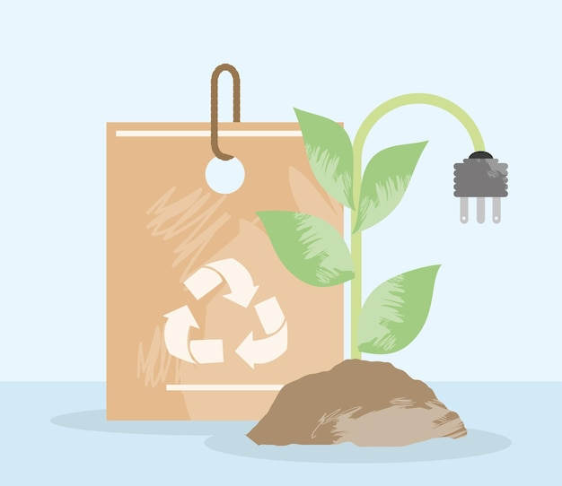 Sac écologique et prise électrique