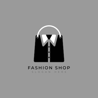 Sac de mode shopping avec modèle de logo simple chemise