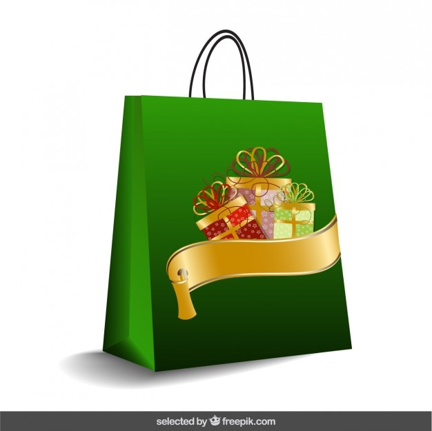 Le sac de noël vert