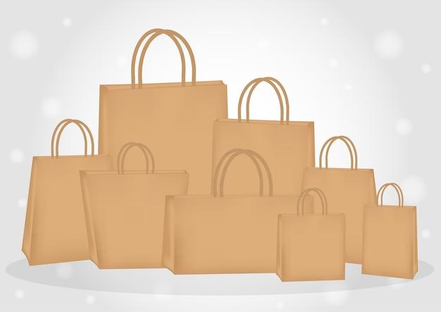 Un sac en papier brun