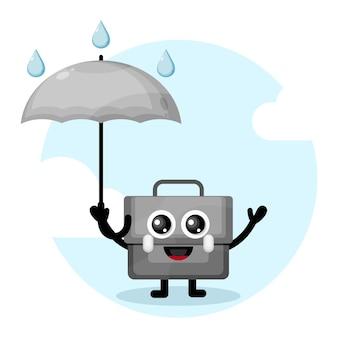 Sac parapluie logo de personnage mignon