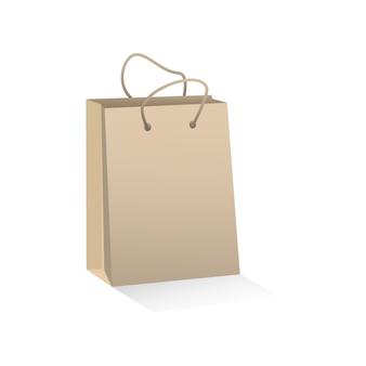 Sac à provisions en papier brun artisanal