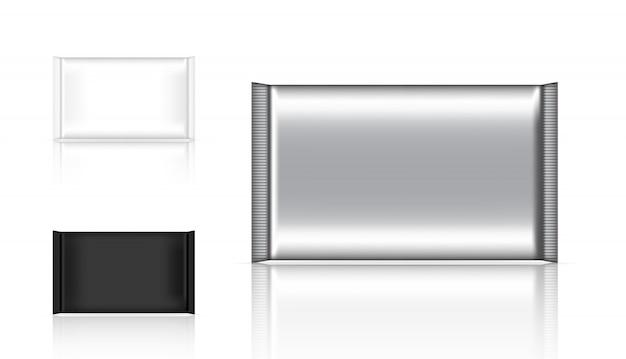 Sac réaliste de sachet en feuille d'aluminium pour produit alimentaire