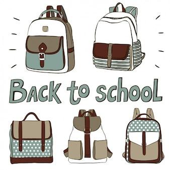 Sacs à dos mignons pour retourner à l'école