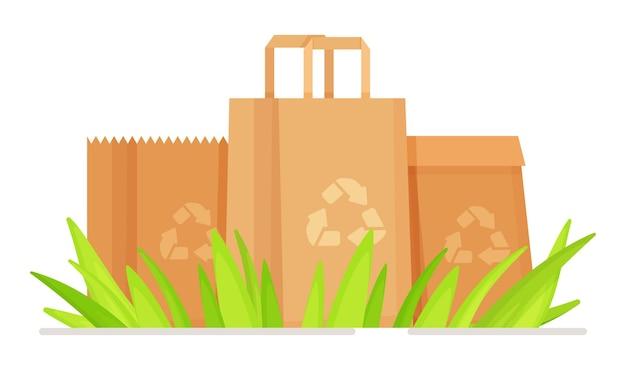 Sacs écologiques pour le recyclage.