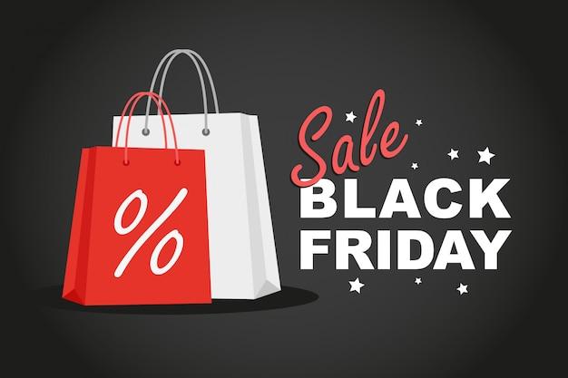 Sacs de magasinage avec publicité black friday sale