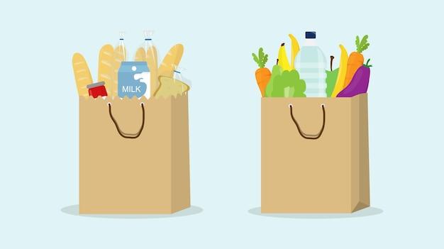 Sacs à provisions chariot supermarché épicerie