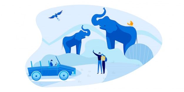 Safari en voiture romantique pour deux personnes aimantes