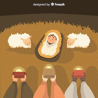 Sages fond de nativité