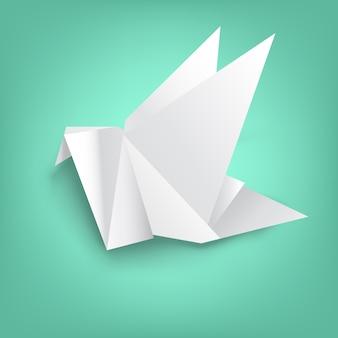 Sagesse sur pliage de papier oiseau