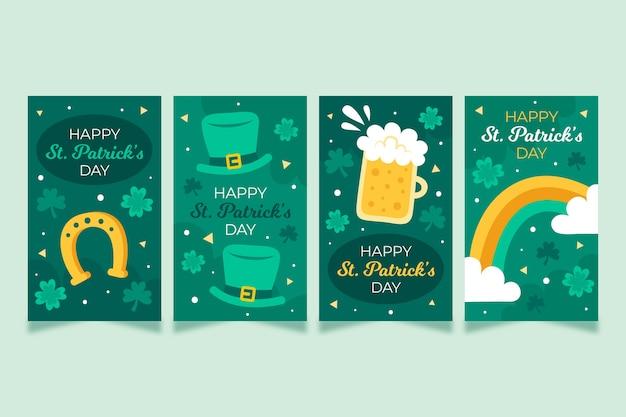 La saint-patrick avec des histoires instagram de bière et d'arc-en-ciel
