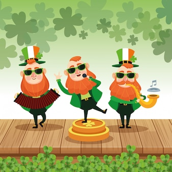Saint patricks elfes cartoons