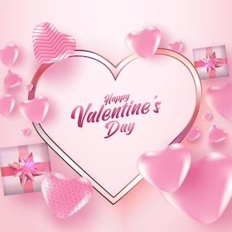 Saint valentin avec beaucoup de cœurs.