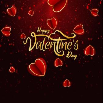 Saint valentin belle avec des coeurs