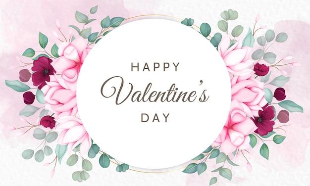 Saint valentin avec de belles fleurs