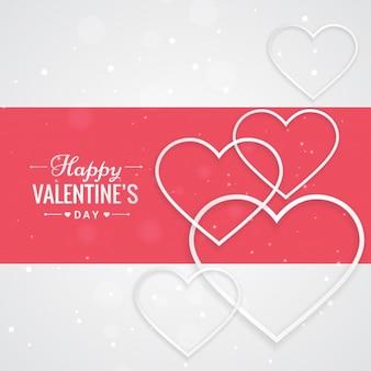 Saint valentin avec des coeurs de voeux