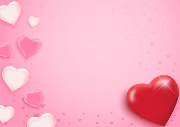 Saint valentin avec coeurs.