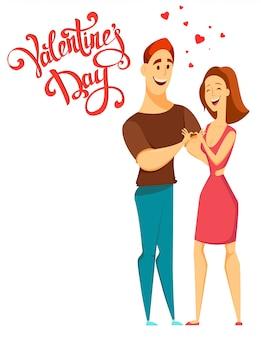 La saint-valentin. couple amoureux.