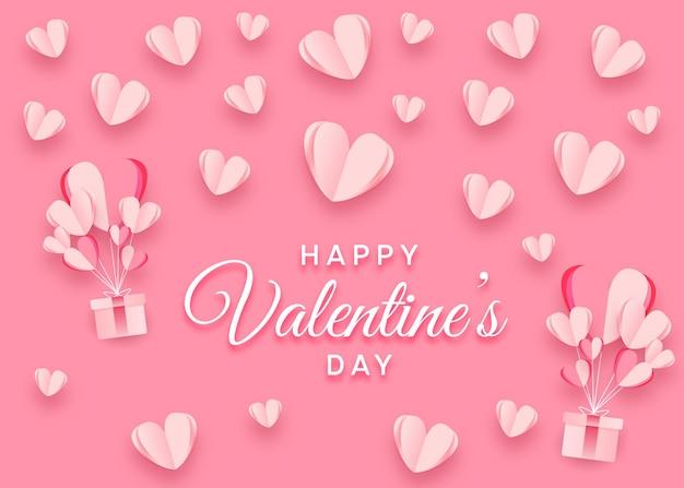 Saint valentin créative avec des coeurs