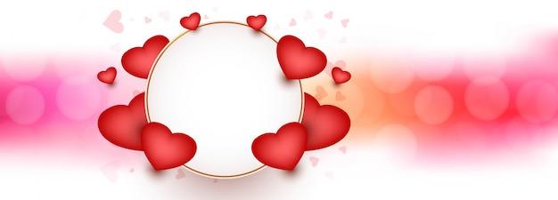 Saint valentin avec un design coeur décoratif