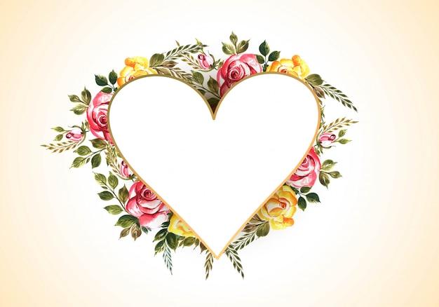Saint valentin avec des fleurs colorées