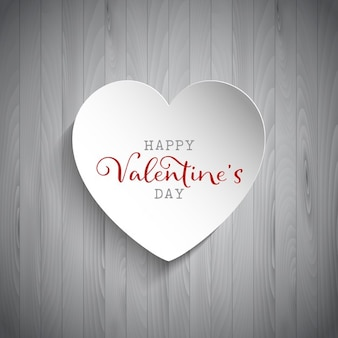 Saint valentin fond avec le coeur sur fond de bois