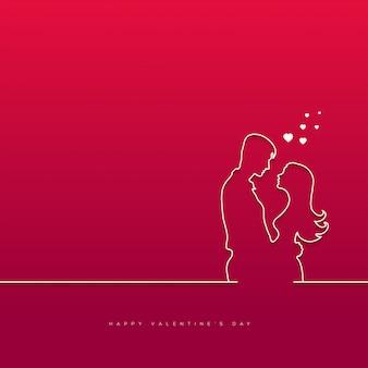 Saint valentin avec fond de couple