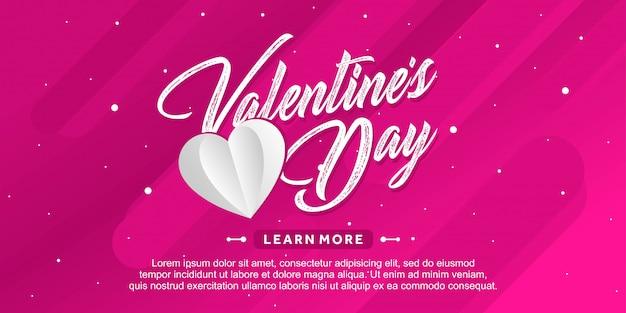 Saint valentin fond rose