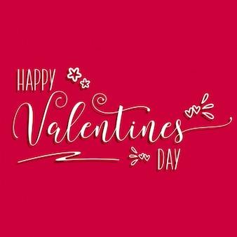 Saint valentin fond avec le texte décoratif