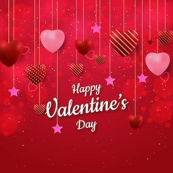 Saint valentin avec forme d'amour et effet bokeh