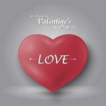 Saint valentin en forme de cœur sur fond