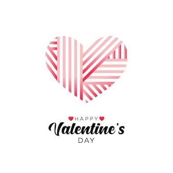 Saint valentin avec en forme de coeur