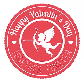 Saint valentin, illustration vectorielle.