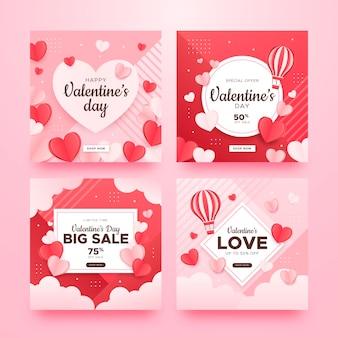 Saint valentin instagram posts