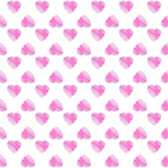 La saint-valentin. modèle avec des coeurs roses