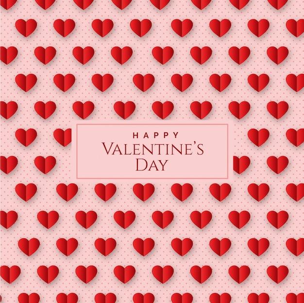 Saint valentin avec motif géométrique sans couture avec coeurs