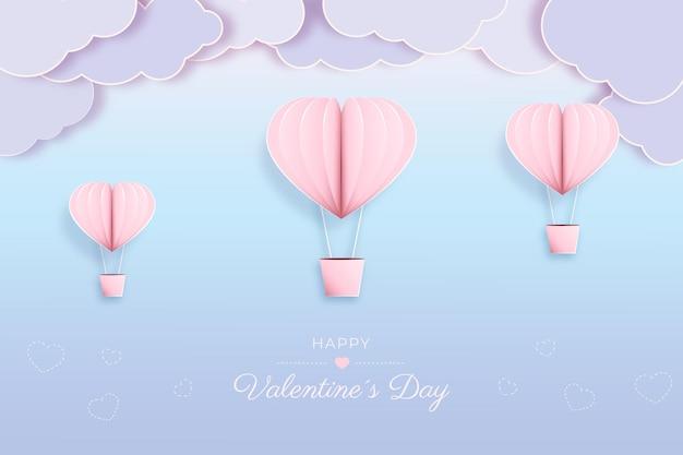 Saint valentin sur papier