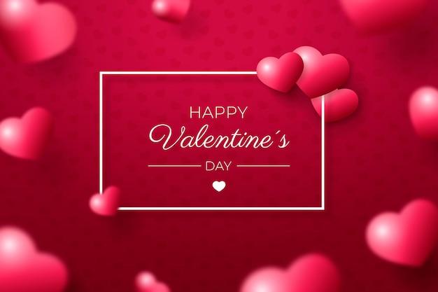 Saint Valentin Réaliste Vecteur gratuit