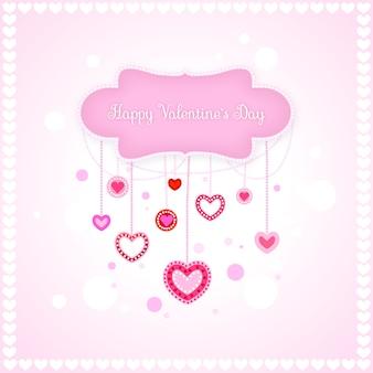 Saint valentin romantique love hearts vector illustration