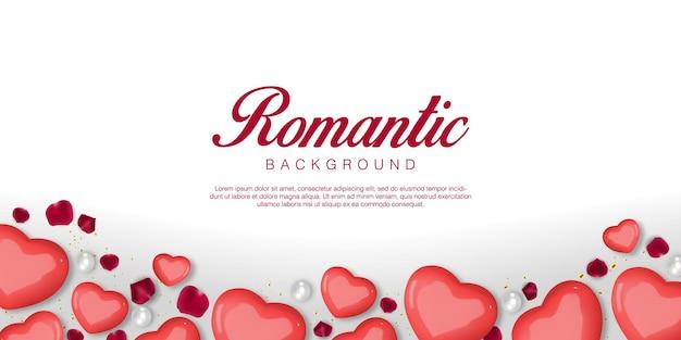 Saint Valentin Romantique Réaliste Vecteur Premium