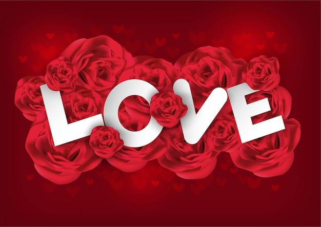 Saint valentin avec rose