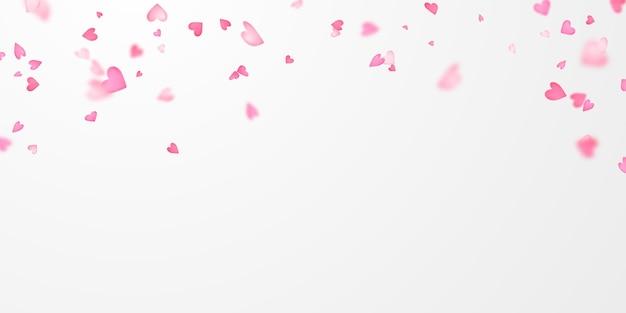 Saint-valentin, rubans de coeur de confettis.