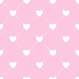 Saint valentin seamless hearts pattern vector illustration. eps10