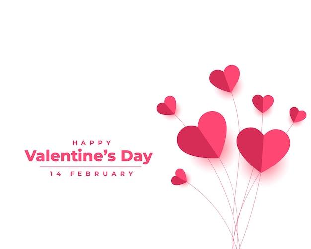 Saint valentin en style papier