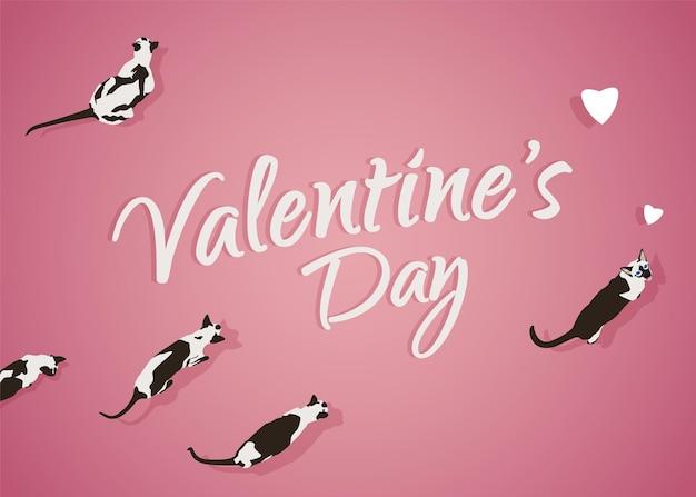 Saint valentin vacances carte design romantique vector illustration