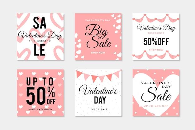 Saint-valentin vente instagram post collection
